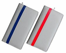 Gift for Father | Cheque Book Holder Grey Faux Leather Multi Pockets Set of 2