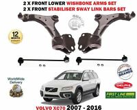 FOR VOLVO XC70 T5 T6 D3 D4 D5 2007-> 2X FRONT LOWER WISHBONE ARMS + 2 LINK BARS