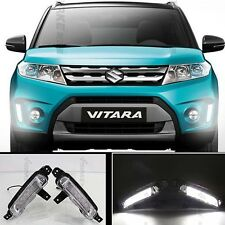 For Suzuki Vitara 2015 2016 2x White Tube LED Daytime Day Fog Light DRL Run lamp