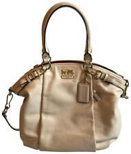 Coach Madison Leather Lindsey Parchment White Satchel Bag Purse Handbag #18641