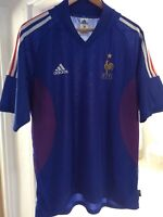 FRANCE ADIDAS HOME OFFICIAL TEAM FOOTBALL SHIRT 2002 VINTAGE ORIGINAL (Large)