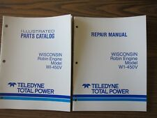 Wisconsin Robin Engine Service Manual & Parts Catalog W1-450V More Listed LG6