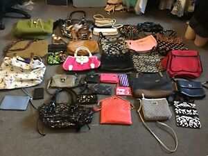 Lot 34 Handbags Purses wallets wholesale resale coach vera bradley nine west