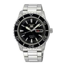 Seiko 5 Sports Automatic Stainless Steel Black Dial Men's Watch SNZH55K1 SNZH55