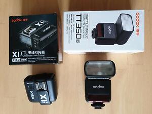 Godox TT350o Camera Flash + Godox X1T-O TTL Wireless Flash Trigger for Olympus