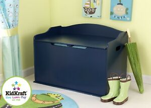 Kidkraft Austin Wooden Toy Box  Blueberry | Kids Wooden Toy Chest | Kids Storage