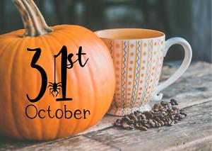 Halloween Pumpkin Stickers Vinyl Decals Window Wall Decorations 31st October