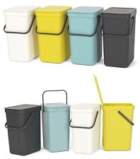 brabantia Abfalleimer 12L Sort & Go Einbau Mülleimer Wandmontage Müllsammler