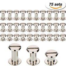 75 sets screw post metal chicago screws binding screw leather screw nail riv.