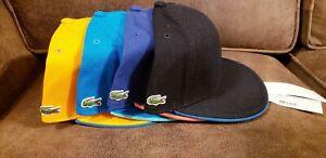 NEW Lacoste Men's L!VE Flat Brim Hat Cap Size M L
