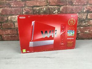 Consola Nintendo Wii Roja - Edición 25 Aniversario Super Mario Bros