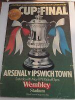 ProgrammeArsenal v Ipswich Town Saturday 6th May1978 50th wembley FA Cup Final