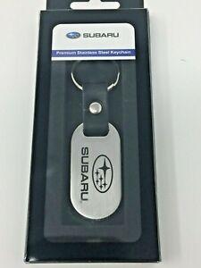 Subaru SUBARU Logo Stainless Steel Keychain Impreza Legacy Outback Genuine WRX