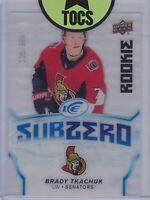 Brady Tkachuk 2018-19 Ice Sub-Zero Rookies Clear Cut 105/999 Ottawa Senators