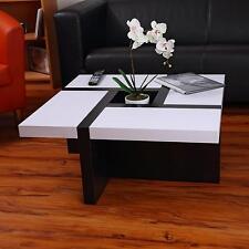 Couchtisch Beistelltisch Wohnzimmertisch Tisch Designertisch Weiß Schwarz NEU