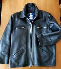 VTG Rare Heavy Thick Cebbar Custom Motorcycle Biker Cafe Racer Leather Jacket XL