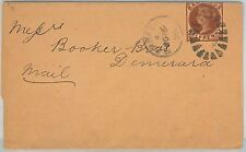 62284 - BARBADOS - POSTAL HISTORY: STATIONERY Newspaper Wrapper to DEMERARA 1896
