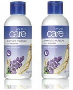X2 Avon Lavender Overnight Moisture Bath & Body Oil - 150ml- Brand New