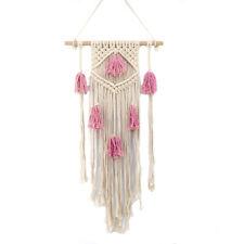 Pink Handmade Macrame Wall Hanging- Woven Wall Art- Macrame Tapestry-Boho Wall D