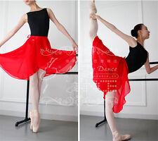 Red Adult Girl Women Chiffon Ballet Tutu Dance Skirt Skate Wrap Scarf By HUALI