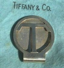 "Sterling Silver Letter ""T"" Money Clip Vintage - Tiffany & Co. Makers"