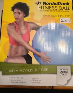 """NEW In Open Box NordicTrack Fitness Ball 65 cm for Heights 5' 3"""" to 5""""11"""""""