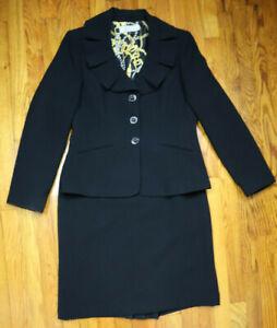TAHARI - WOMEN'S BLACK SKIRT SUIT SET - SIZE 10 - CAREER BUSINESS