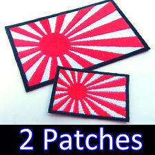 2 x Rising Sun Large Small JAPAN Iron on Patch HONDA YAMAHA Kawasaki Suzuki Team