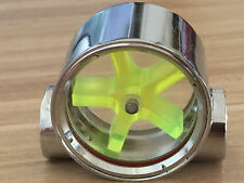 2 Way Water Cooling Flow Indicator Meter Copper Chromed G1/4 Threaded