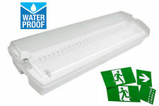 LED Emergency Light Bulkhead Exit Sign IP65 3W Maintained Or Non Maintained 3 Hr