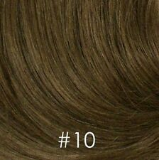 100% Human Hair Pull Thru Wiglet Filler Enhancer Top Piece Volume Intensifier