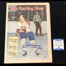 Yvan Cournoyer Signed Montreal Canadiens 1971 Sporting News Magazine Beckett Coa