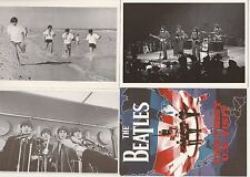 THE BEATLES 7 CARD POSTCARD SET COMMEMORATING THEIR 1964 FIRST USA VISIT