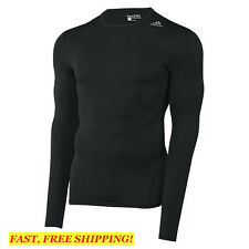ADIDAS TECHFIT Base COMPRESSION Tee LS Long sleeve Shirt BLACK D82057 SIZE SMALL
