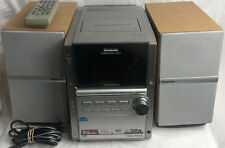 New listing Panasonic Sa-Pm16 Mini Stereo 5 Cd Changer Radio -With Remote- Tested & Works!