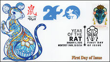 20-003, 2020,Year of the Rat, Pictorial Postmark, First Day Cover, Lunar NewYear