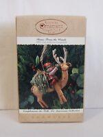 Hallmark Keepsake Ornament Home From the Woods 1995 Reindeer Folk Art NIB (H15)