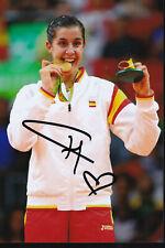 Carolina MARIN – ESP - Badminton – Olympia 1.OS Gold 2016 Foto signiert