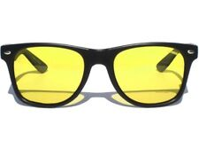 Polarized Yellow Lens Sunglasses Horn Rim Style Anti Glare Night Vision Driving