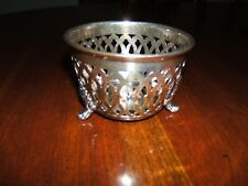 ~ ANTIQUE SHEFFIELD SILVERPLATE FOOTED {3} VOTIVE TEA CANDLE HOLDER ~ CLASSY