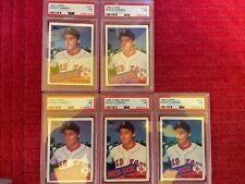 LOT of 5 1985 Topps Roger Clemens PSA 7