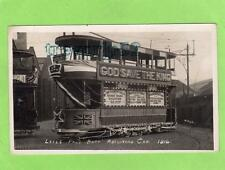 Leeds  World War I recruiting Car Tram 1914 RP pc used Hall Ref B655