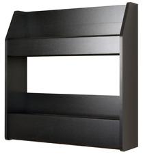 Prepac Black 2-Shelf Composite-Wood Floating Wine & Liquor Rack Holder New