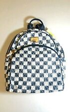 NWT MICHAEL KORS CHECKERBOARD LARGE BACKPACK 30T4GTTB3I Navy/white $328