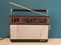 USSR Vintage portable radio receiver Transistor VEF - 317. Made in Soviet Union