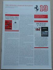 Ferrari ANNUAIRE 2012 4357/12 Yearbook Textbook brochure prospectus depliant Press