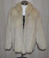 Genuine Beautiful Saga Fox Blue / Shadow Fox Fur Coat Soft Shiny Supple Fur Med