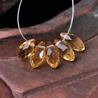50pcs 12x6mm Teardrop Pendant Faceted Crystal Glass Loose Beads Champagne