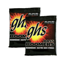 2-Pack GHS Boomers Long Scale Medium Bass Roundwound Electric Strings 45-105