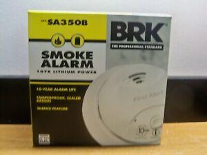 New BRK SA350B 10 YEAR LITHIUM POWER TAMPERPROOF SMOKE ALARM FREE 1ST CLS S&H